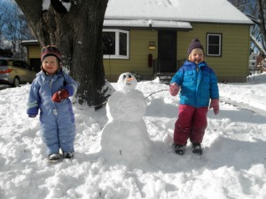 Our first snowman of the season