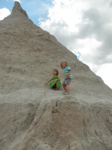 We stopped at the Badlands in South Dakota.