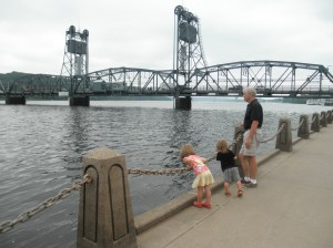 Waiting for the bridge to lift in downtown Stillwater