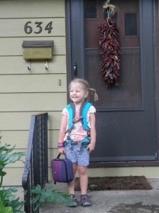 And then it happened! My tiny peanut became a school-kid.
