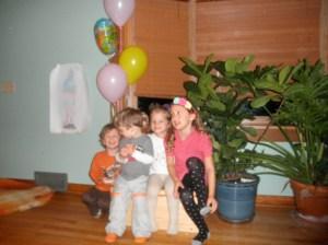 Birthday boy and his buddies