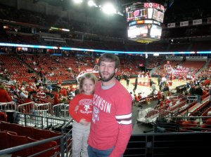 Mimi's first Badger basketball game