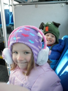 Bus ride! I took the kids downtown on the bus to the Martin Luther King, Jr. Day celebration at the Capitol.
