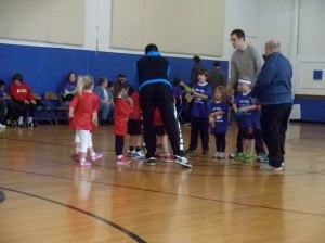 Mimi's first basketball game