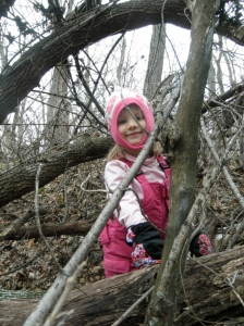 She loves climbing trees